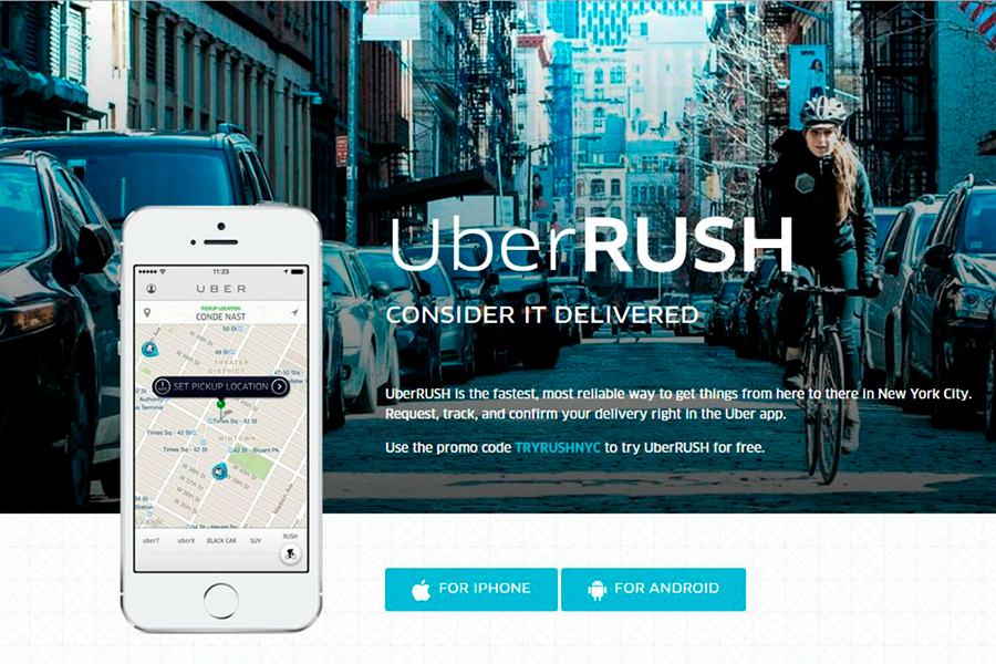 Uber launches UberRUSH services in Chicago, San Francisco
