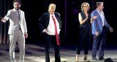 Meryl Streep performs as Donald Trump