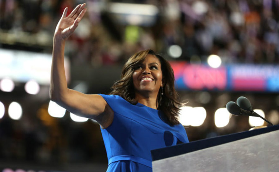 Michelle Obama is more than welcome during her speech at the 2016 DNC. Image Credit: NDTV