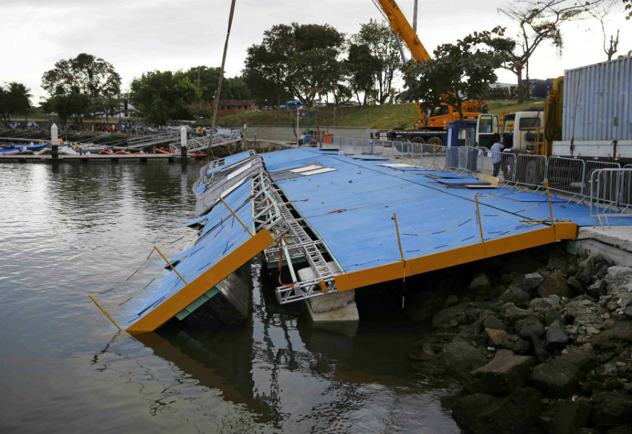 Even though the main ramp collapsed just 8 days before the sailing events for the Rio 2016 Olympics started, nobody got hurt nor it was broadcasted by the media. What's more, one week could provide sufficient time for organizers to set up a new steadier ramp. Image Credit: DDNS