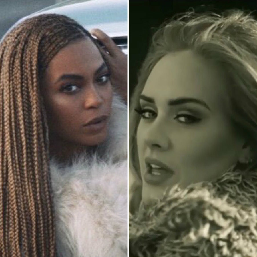"""Beyoncé with 11 nominations for her visual album """"Lemonade"""", and Adele with eight nominations, of which seven are for her """"Hello"""" video, are the two top nominees of the 2016 MTV Video Music Awards. Photo credit: Eurweb"""