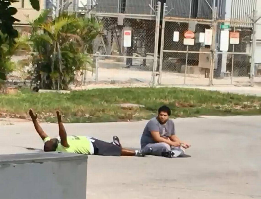 Charles Kinsey was attending an autistic man when the police arrived and shot him in the leg. Photo credit: Miami Herald