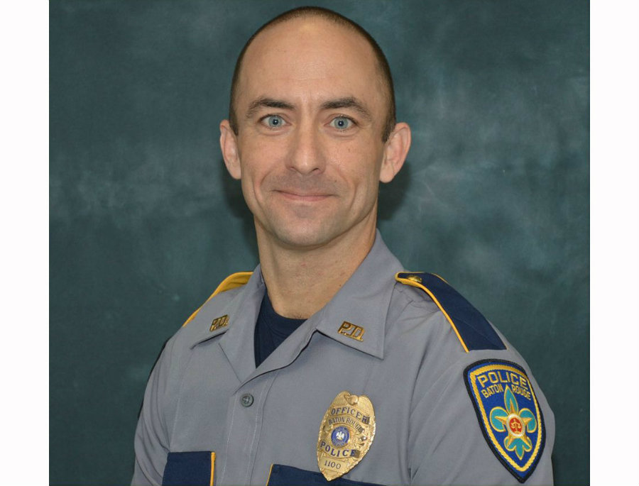 The 41 year old police officer, Matthew Gerald, passed away on Sunday after a shooting in Baton Rouge. His funeral took place at Healing Place Church on Highland Road. Photo credit: BRPD / Nola