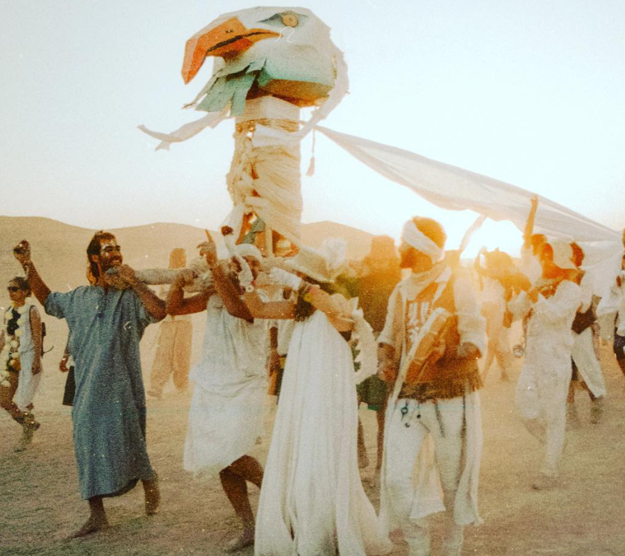 Wedding Parade at the Burning Man Festival shot at 35 mm. Image credit: @eladbari