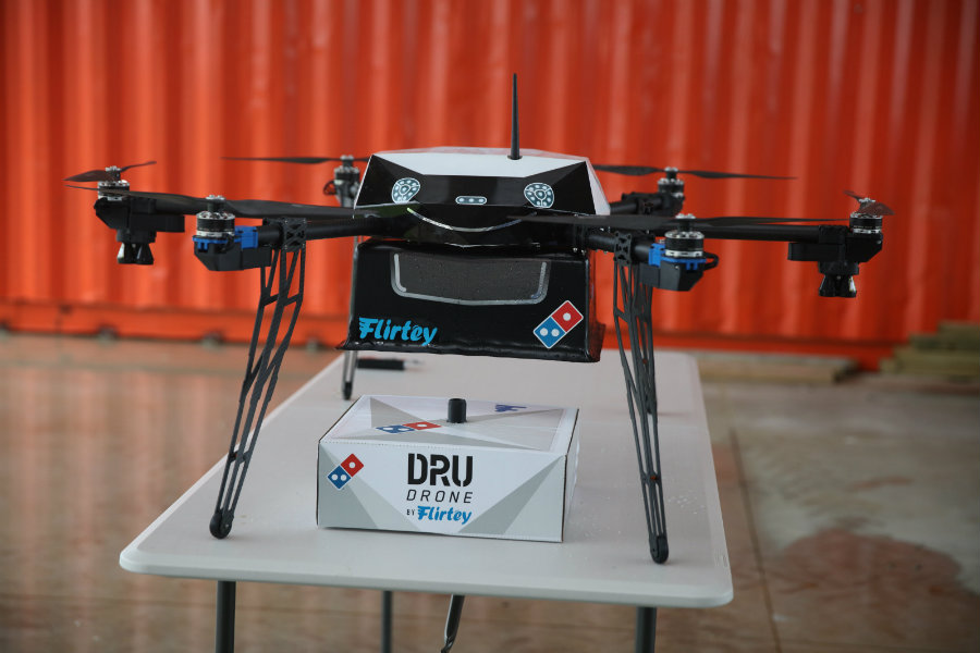 Drones to deliver Domino's pizza in New Zealand. Image Credit: Forbes