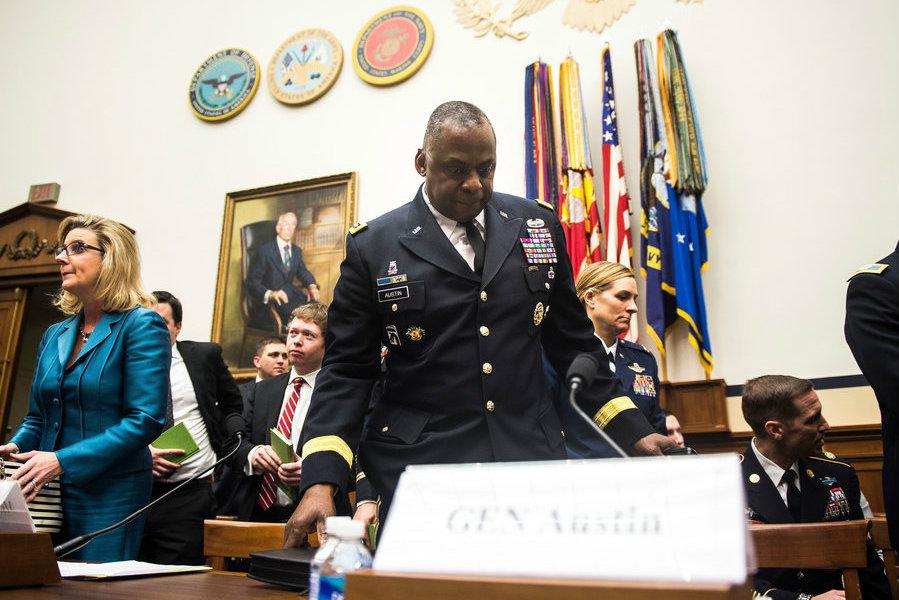 A photo of Lloyd J. Austin III, commander of Centcom, on Capitol Hill on March 3. Image Credit: Gabriella Demczuk/ NY Times