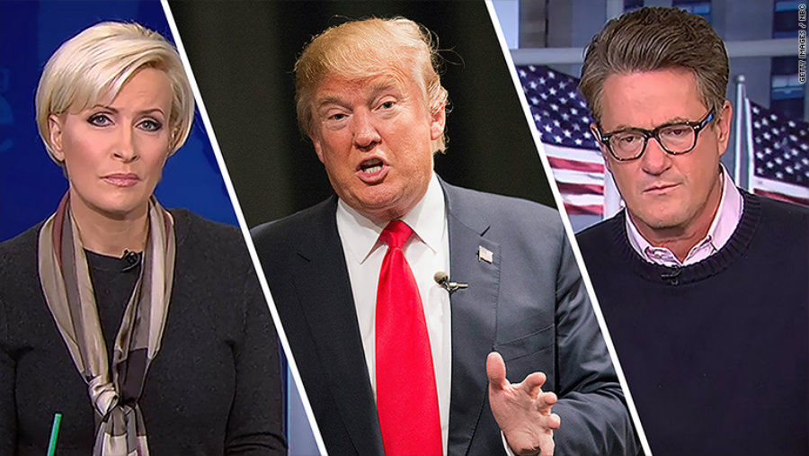 "Donald Trump attacked MSNBC's ""Morning Joe"" hosts Joe Scarborough and Mika Brzezinski, being this the second time he attacks a national TV female host, Photo credit: CNN Money"