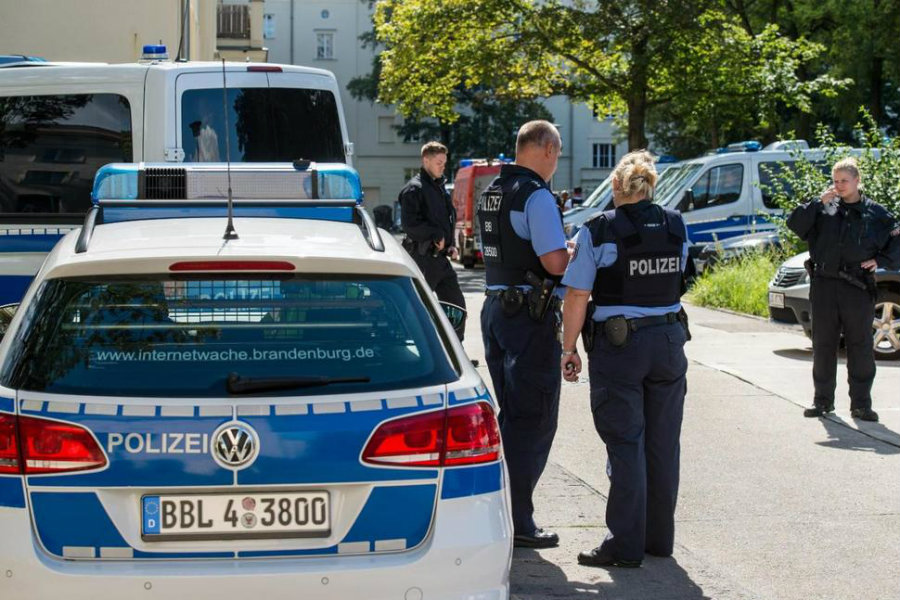 A  27-year-old German man was arrested on Wednesday after he was suspected of storing materials in his home that could be used as explosives. Photo credit: Patrick Pleul / AP / US News and World Report