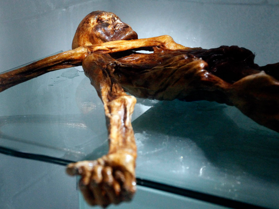 "Otzi, the so-called ""Iceman"", is one of the most famous men in the world and was discovered in 1991 by hikers on the Italian Otzal Alps. Photo credit: Independent"