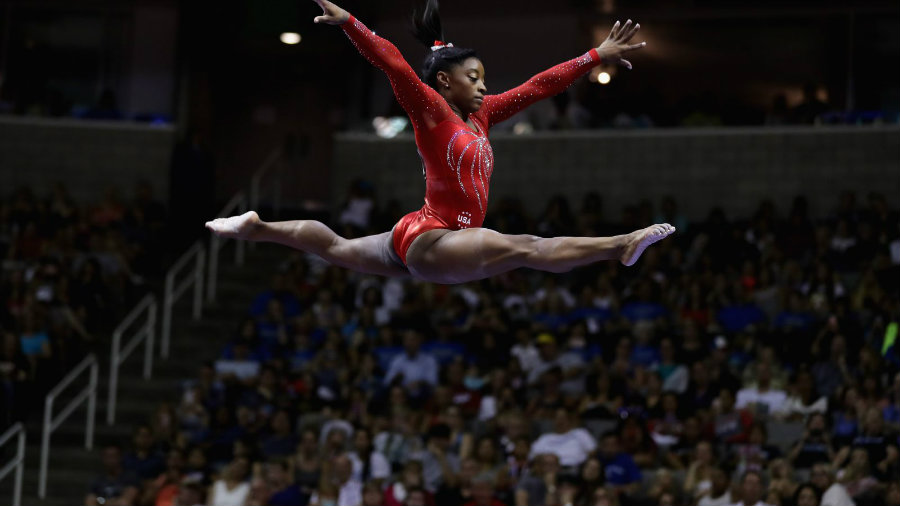 Simone Biles is the brightest star of the team. She reached the highest scores on floor, vault, and beam, 3 of the four apparatus in the competition. Photo credit: Getty Images / Fusion