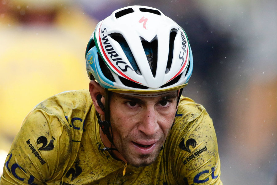 Vincenzo Nibali, an Olympic cyclist for Italy, suffered a double fracture of his left collarbone and had to be immediately returned to Italy to undergo emergency surgery. Photo credit: Sirotti / Road Cycling UK