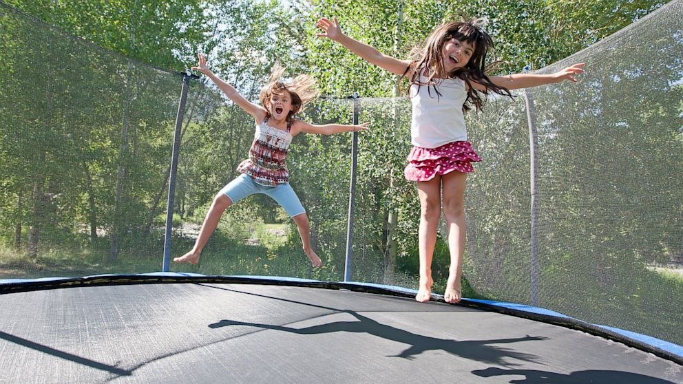 The recommendation from the American Academy of Pediatrics recommends avoiding trampolines as a mean of recreation. Image Credit: ABC News