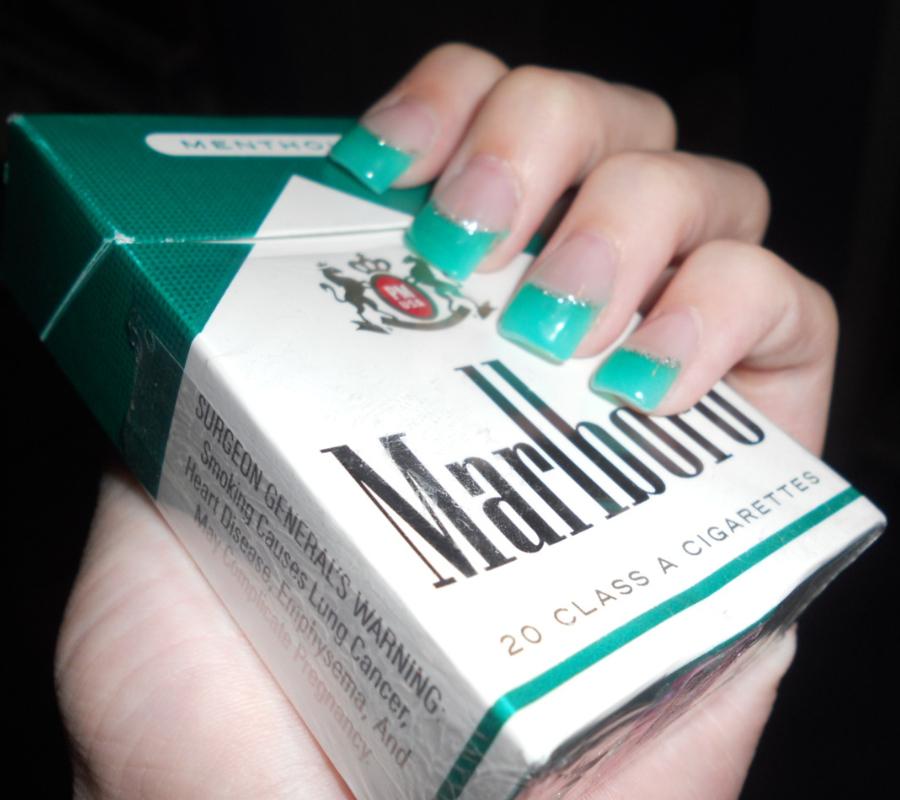 Menthol-flavored cigarettes