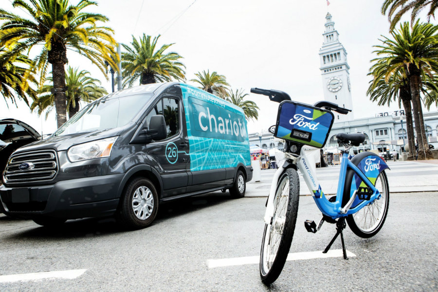 Chariot is a private shuttle company that primarily serves San Francisco commuters, and it is the first acquisition made by Ford Mobility. Photo credit: Ford / Business Insider