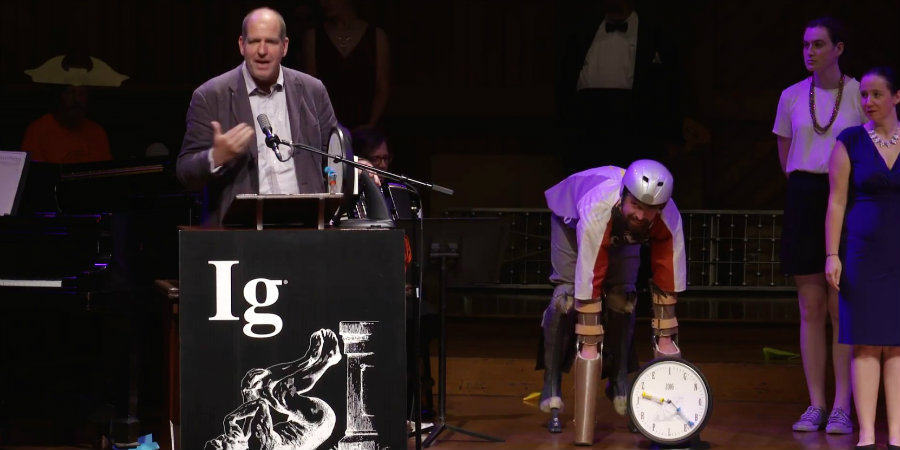 """The Ig Nobel prizes are awarded to those that can """"make people laugh, then make them think."""" Photo credit: Inverse"""