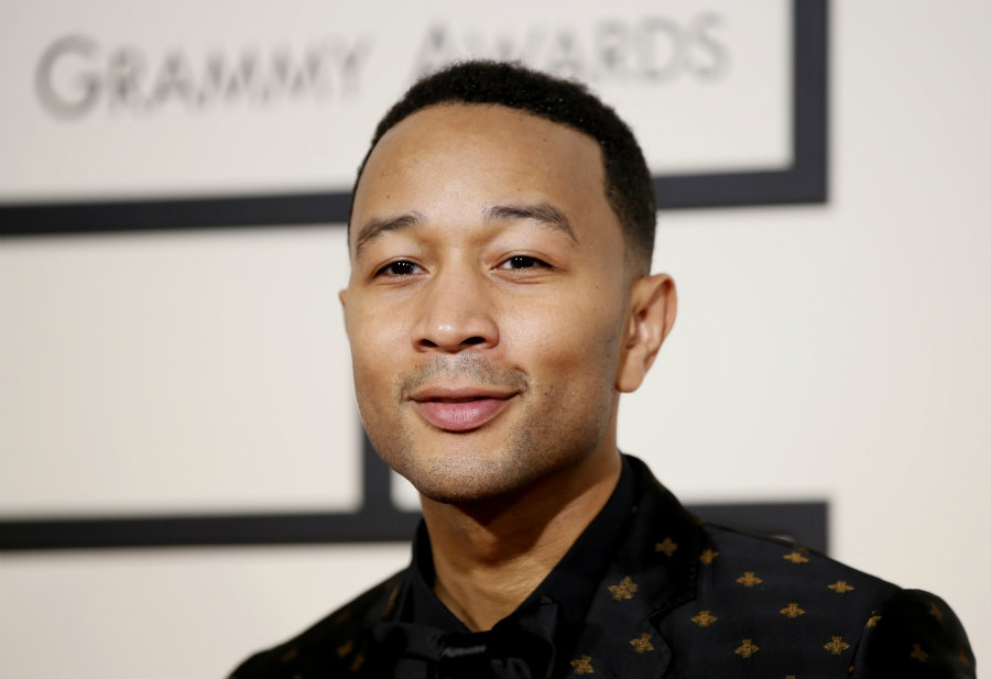 "John Legend is showing support for his fellow African-American brother in his decision to protest the ""Star Spangled Banner"" before games. Photo credit: Reuters / Danny Moloshok / IB Times"