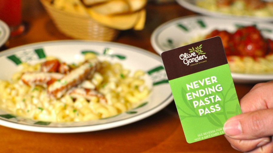 The promotion starts on October 3 and finishes on November 20 and the passes cost one hundred dollars plus sales tax with free shipping. Photo credit: Olive Garden / Fox News
