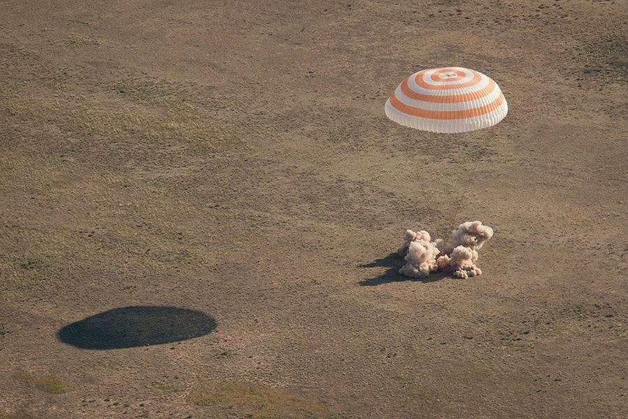 "The landing went smoothly, with NASA spokesman Dan Huot calling it ""picturesque."" Photo credit: Spacefacts.de"