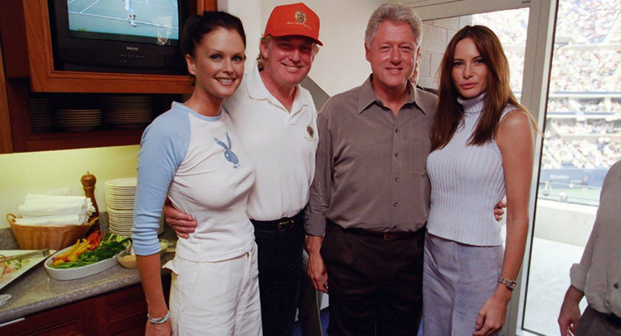 The pictures were taken by official White House photographers in June 2000 when then-President Clinton made a trip to Trump Tower in New York City for a political fundraiser. Photo credit: William J. Clinton Presidential Library / New York Daily News