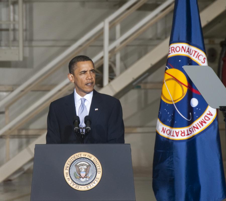 Barack Obama, NASA