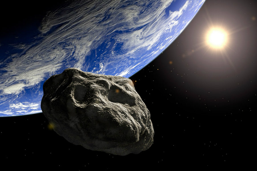 An asteroid is going to pass close to Earth tonight. Photo credit: Daily Galaxy