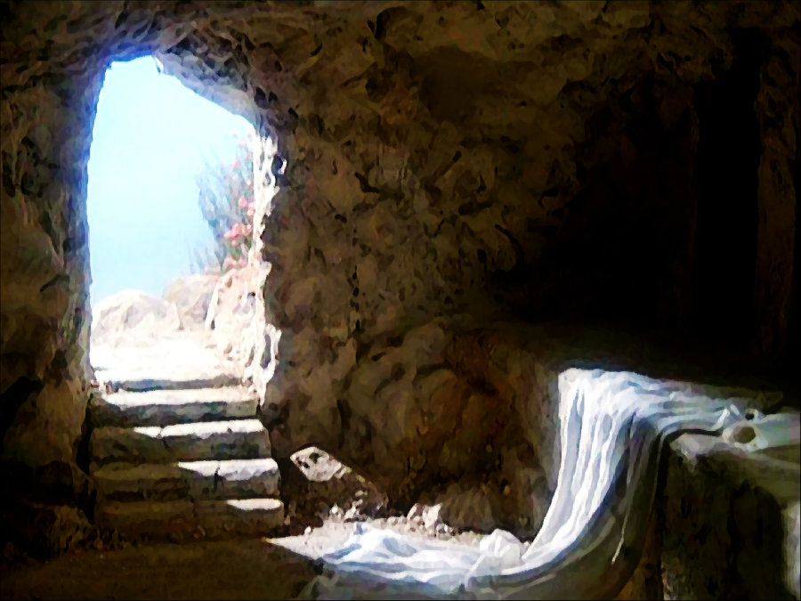 The Bible says that Jesus was laid on a rock after he was crucified. Photo credit: Pinterest