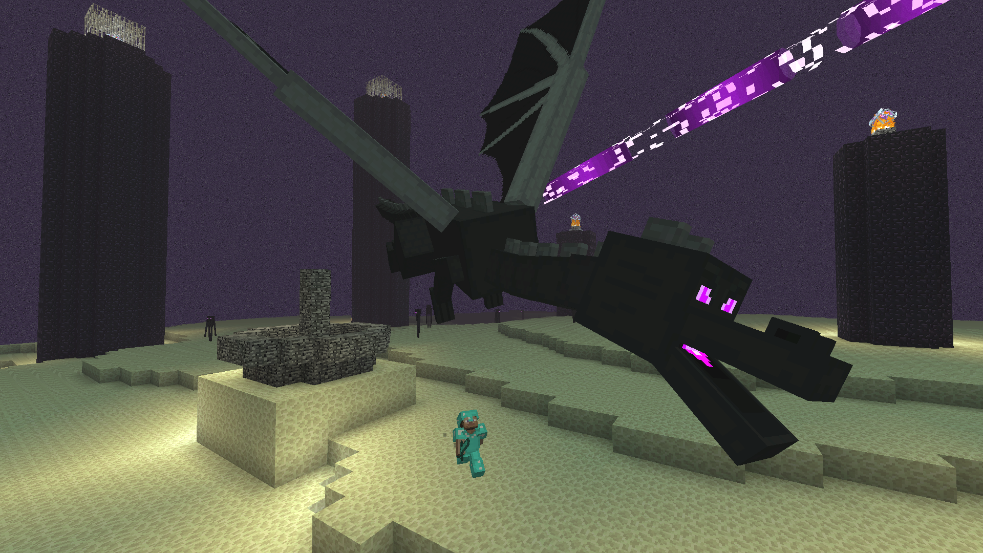 The Ender Dragon, Minecraft, Windows 10