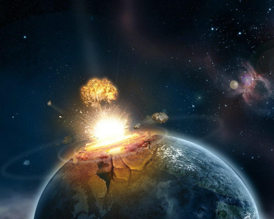 The impact of the asteroid that hit the Earth almost 66 million years ago caused its surface to be momentarily liquid. Photo credit: Pics About Space