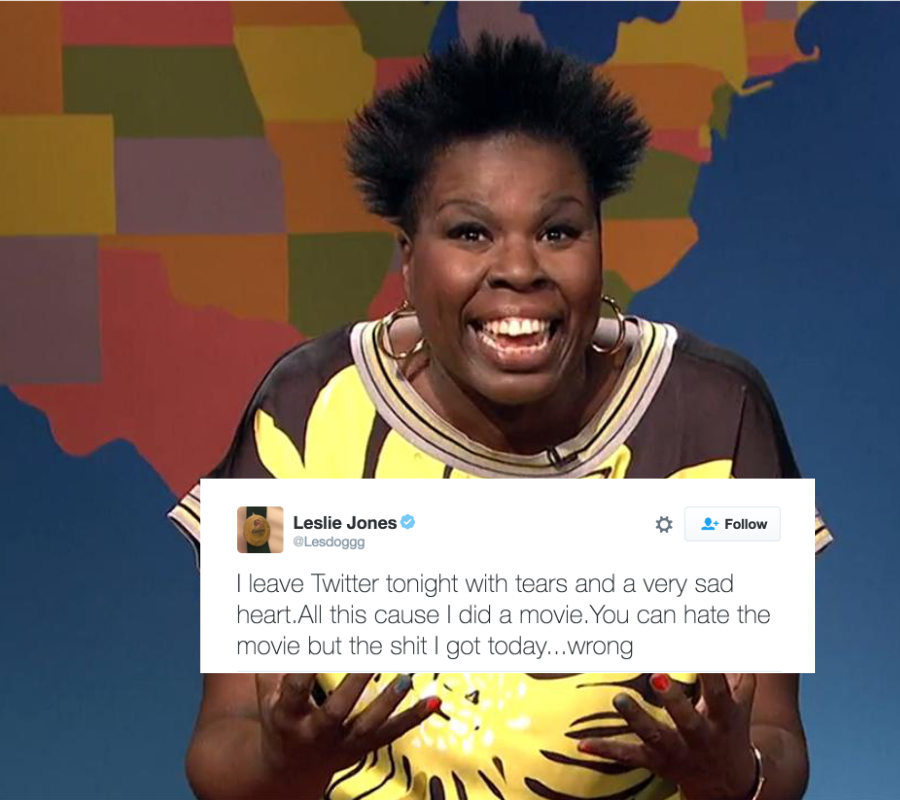 Leslie Jones, Twitter