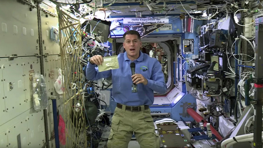 Astronauts at the ISS will be celebrating Thanksgiving. Photo credit: NASA Youtube Channel