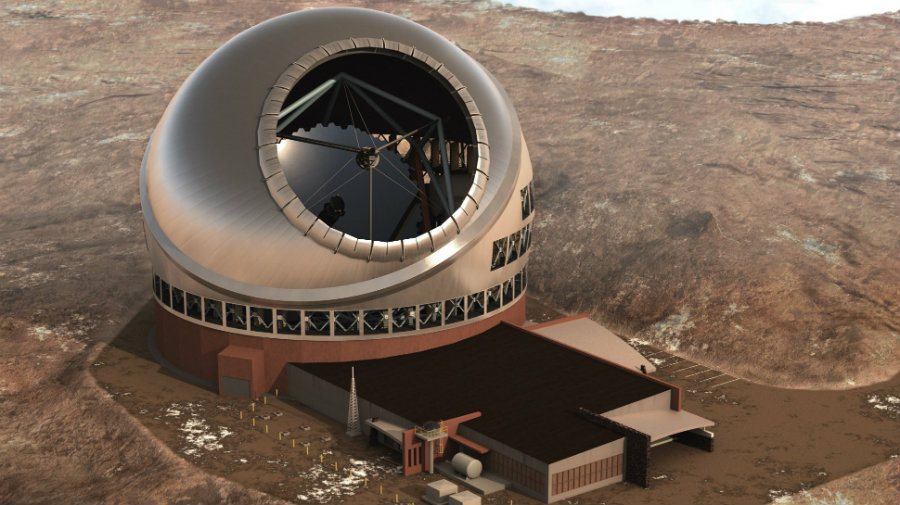 The Thirty Meter Telescope might have to be built in La Palma, in Spain's Canary Islands. Photo credit: Thirty Meter Telescope / Forbes
