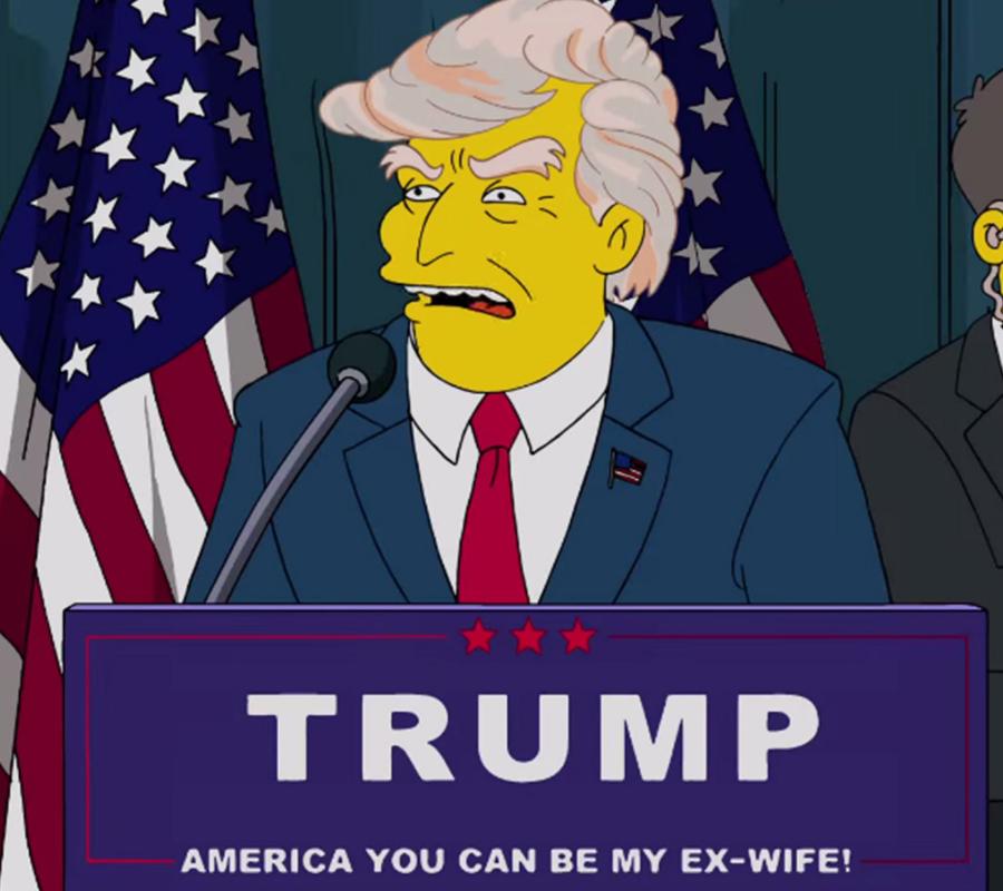 Trump, The Simpsons