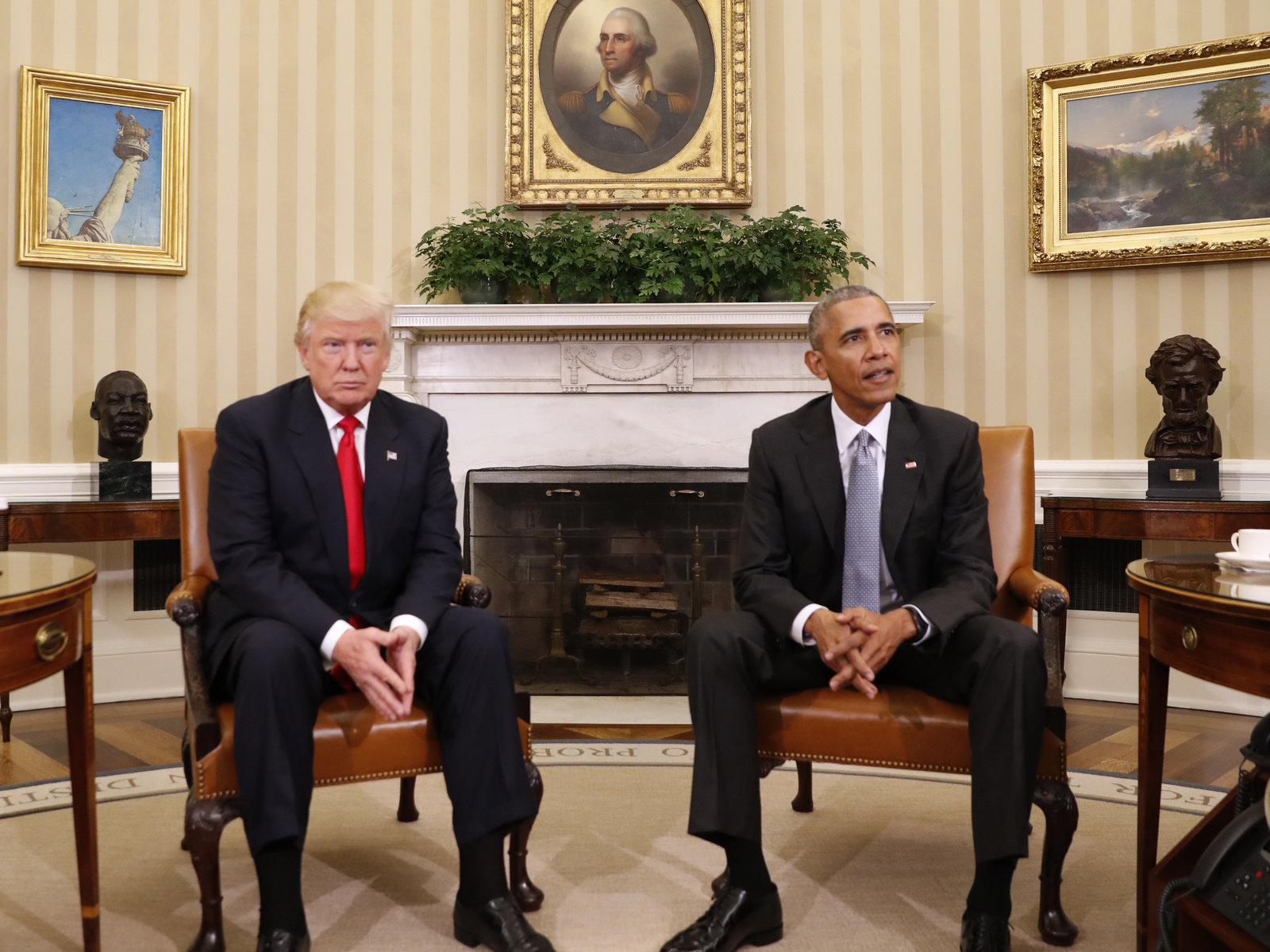 Donald Trump, Barack Obama, White House