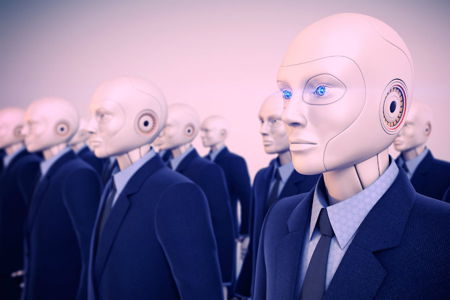 """Foxconn plans to replace its human workforce for what they have called """"Foxbots."""" Photo credit: Digital Trends"""
