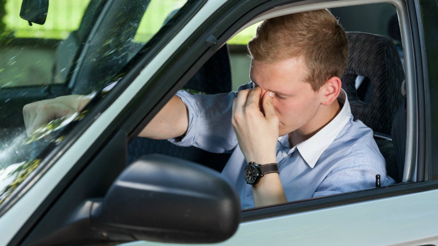 According to the study, driving while sleepy is similar to driving with alcohol in the blood. Photo credit: CNN