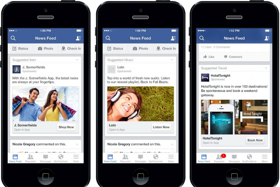 Recent surveys have discovered that around 44 percent of U.S. adults get news from Facebook. Photo credit: Bandt