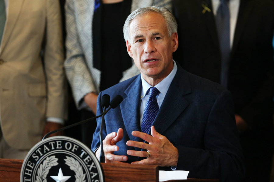 The new rules were presented by Governor Greg Abbott. Photo credit: Spencer Platt / Getty Images / The Washington Post