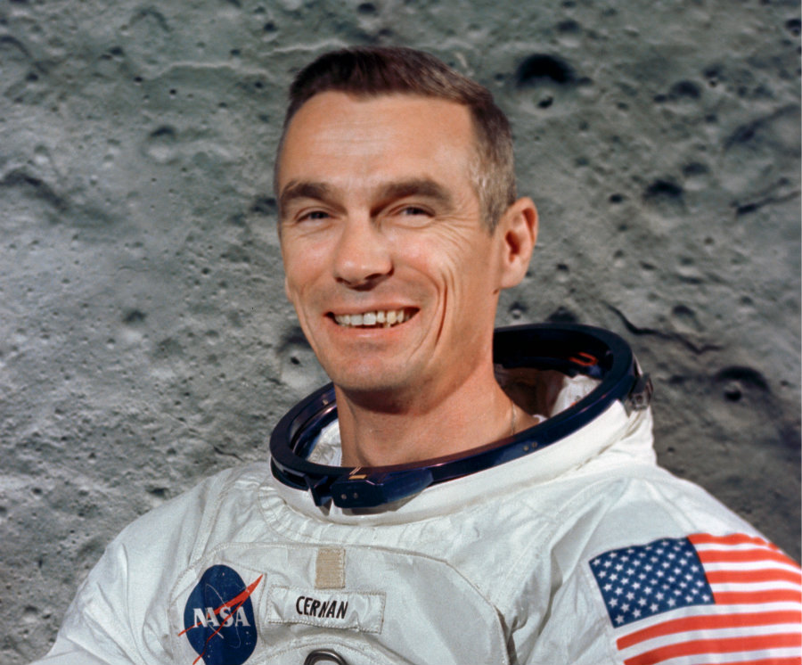 Cernan was a former captain of the U.S. Navy who traveled twice to the Moon. Photo credit: Alchetron