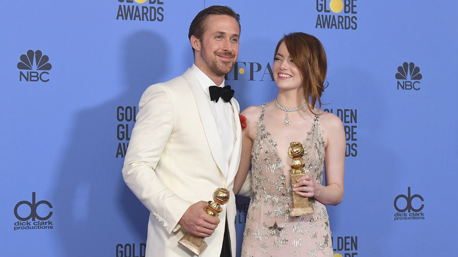 La La Land starred actors Ryan Gosling and Emma Stone. Photo credit: Getty Images / ET Online