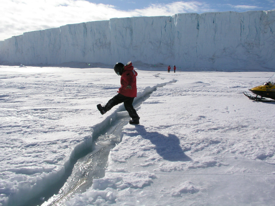 One of the most significant cracks in one of the Antarctic's ice shelves is expanding considerably. Photo credit: Inverse