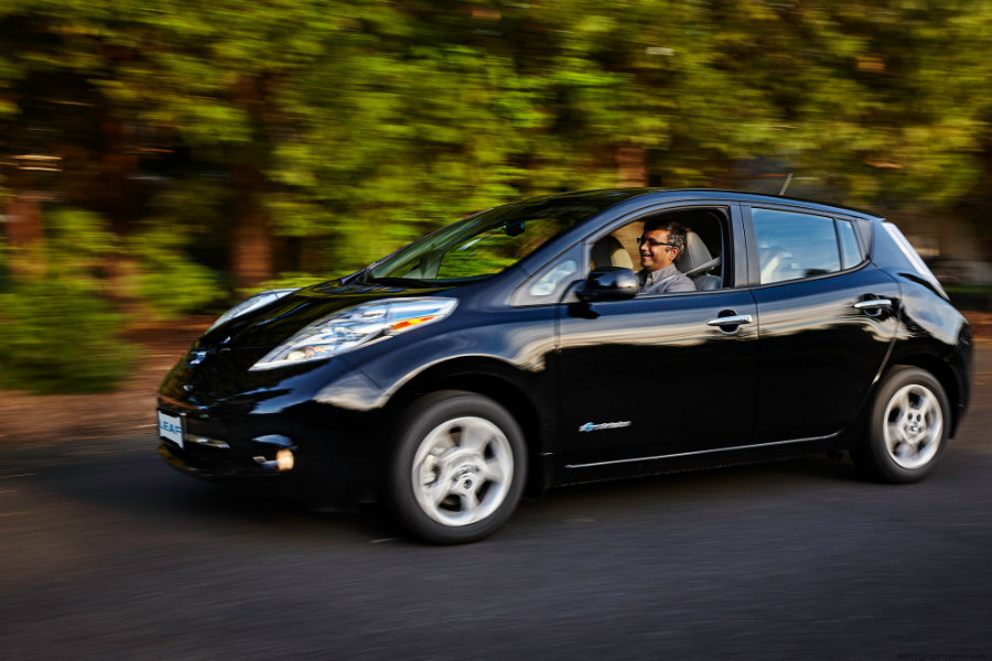The objective is to begin full production of the automated Leaf by 2020. Photo credit:  AutoGuide.com