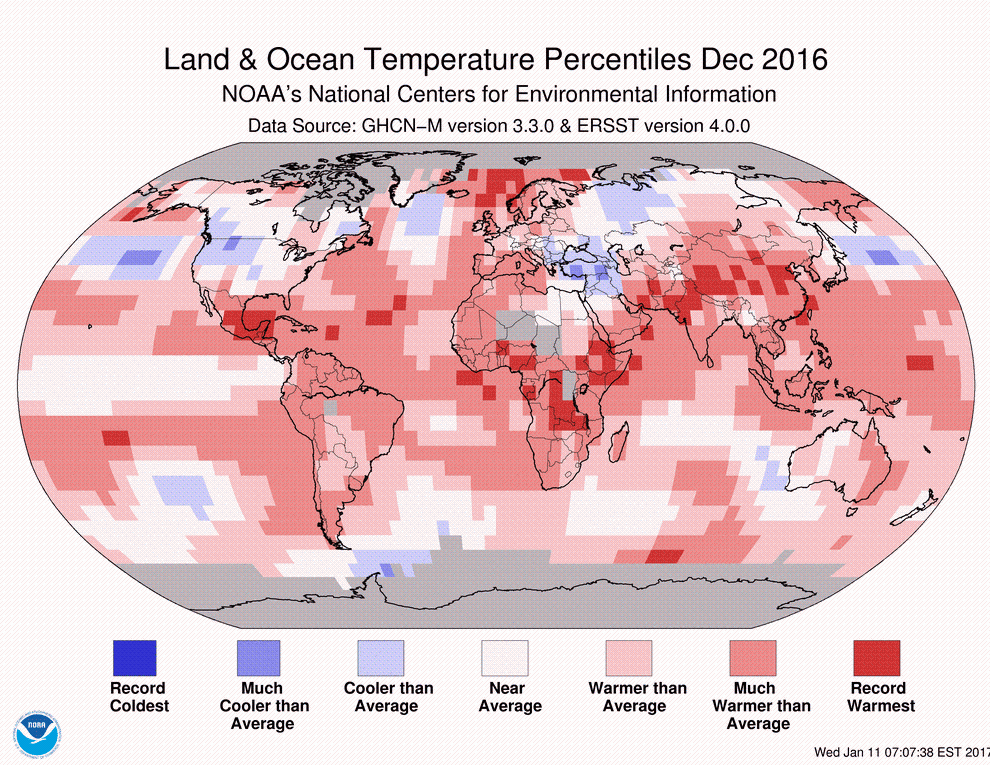 NOAA, Earth's temperatures