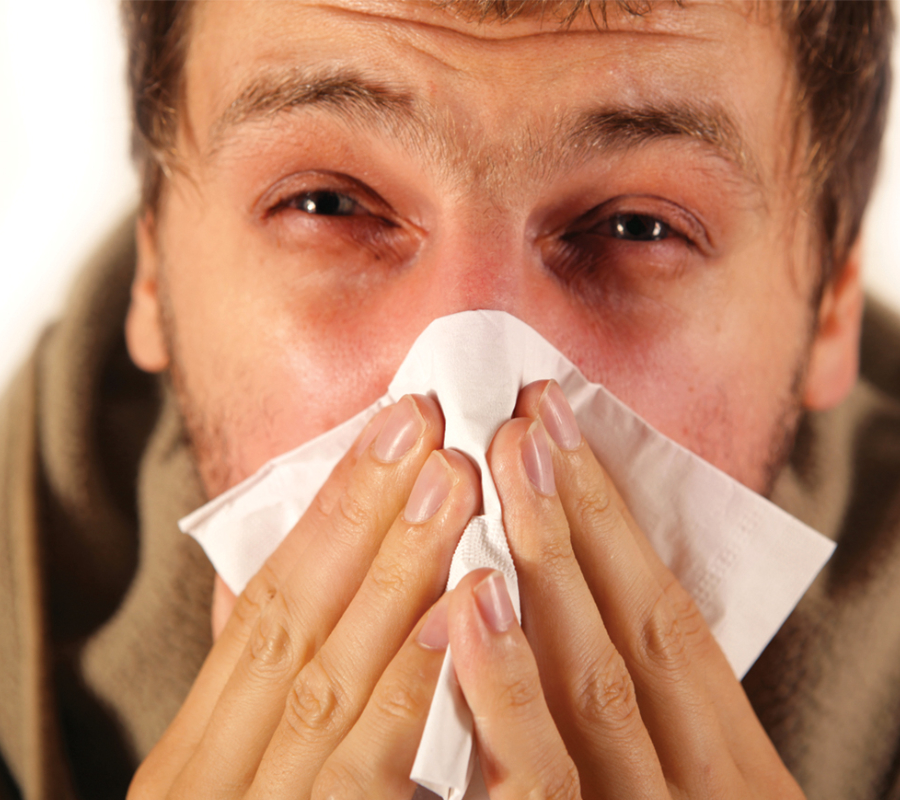 Man with a flu