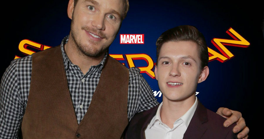 Chris Pratt and Tom Holland at CinemaCon. Image credit: Cosmic Book News
