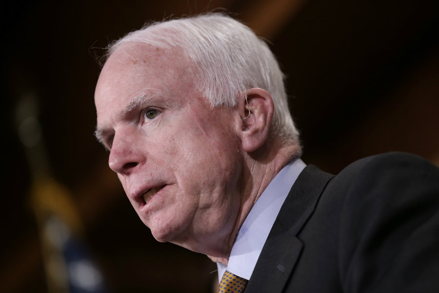Republican Senator for Arizona John McCain has taken the role of Trump's leading conservative antagonist.  Image credit:  Win McNamee / Getty / The New Yorker