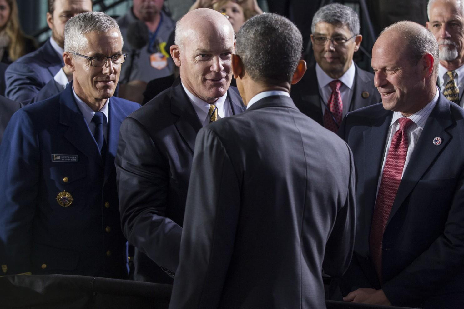 Obama, Secret Service director Joseph P. Clancy