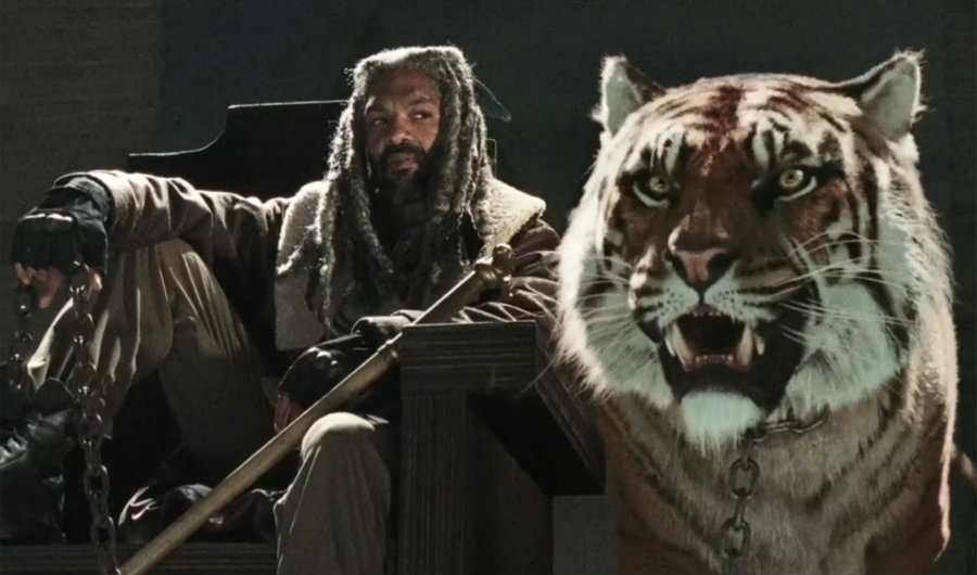 King Ezekiel and his tiger Shiva. Image credit: AMC