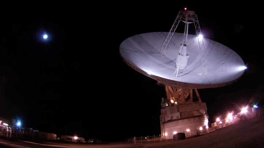 NASA's 70-meter (230-foot) antenna located at the Goldstone Deep Space Communications Complex