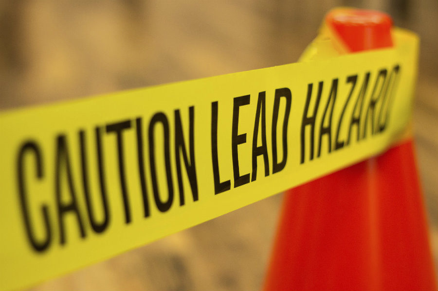 Lead can come from several sources such as old paint, contaminated soil or from water that runs through lead pipes. Image credit: Harvard Health Publications