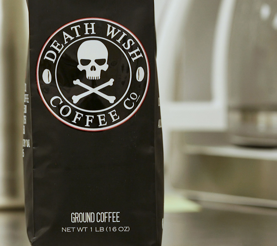 Black Insomnia Coffee, Death Wish, Caffeine